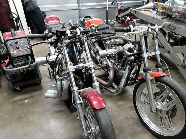 Iron head drag bikes