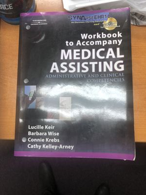 Workbook to accompany medical assisting book for Sale in Gilroy, CA