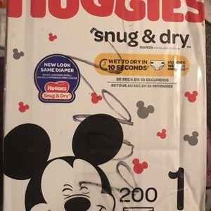 Size 1 Huggies Snug & Dry Diapers for Sale in Las Vegas, NV