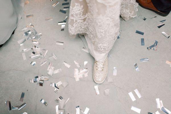 Kate Spade glitter keds - perfect wedding reception shoe!