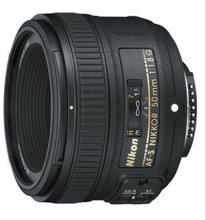 Nikon Nikkor 50 mm 1.8G New Lens for Sale in Manchester, CT