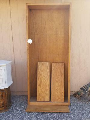 Oak shelving unit 6 adjustable shelves for Sale in Victorville, CA