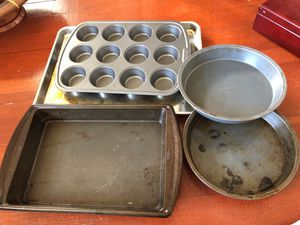 Cooking sheets and pie pans for Sale in Tacoma, WA