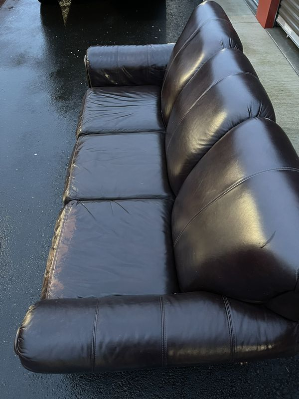 Espresso Leather Couch In Great Condition!!