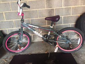 MONGOOSE Girl's 4 Peg Pink & Black Trickster Bike for Sale in Cleveland, OH