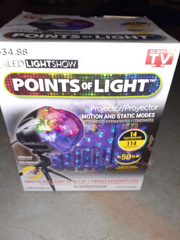 Christmas points of light projector
