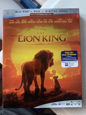 The Lion King (Blu Ray) for Sale in Colton, CA