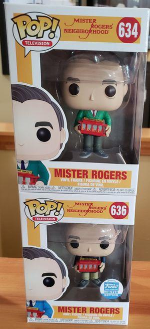 Lot of 2 Mister Rogers Funko Pops! for Sale in Arlington, WA