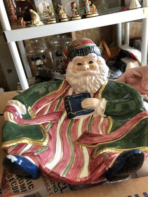 Santa cookie plate for Sale in Marion, NC