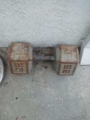 95 pound dumbbell for Sale in Manteca, CA