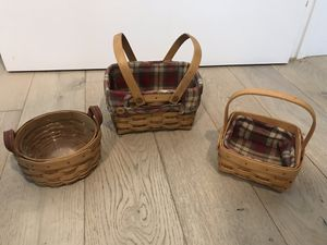 Longaberger small basket combo set for Sale in Tampa, FL