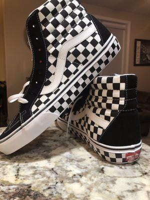 Vans SK8 Hi Reissue Mens Skate Shoes Black White Checkerboard for Sale in Carlsbad, CA