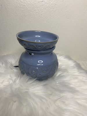 Hosley 6 High Blue Ceramic Electric Warmer. Ideal Gift for Wedding Spa Aromatherapy. Use Brand Wax Melts Cubes Essential Oils and Fragrance Oils. O4 for Sale in Tucson, AZ