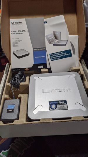 Linksys RVL200 VPN Router for Sale in Plano, TX