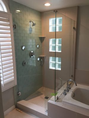 Shower glass door enclosures barn doors tempered glass mirror tile and painting for Sale in Miami, FL