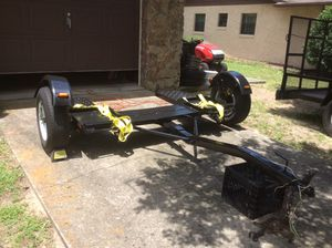 Car Dolly Tow Trailer - Drive On - Heavy Duty - Newly Rewired - New Lights - New Tie Down Straps - Good Tires - Tilt Bed - Center Pivot - Freshly Pai for Sale in Dunnellon, FL