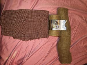 Country fabric and burlap for Sale in Hamilton, OH