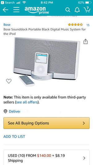 Bose SoundDock Portable IPod Player for Sale in Seattle, WA