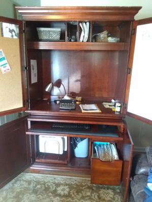 Cherry wood Armoire Desk for Sale in Raleigh, NC