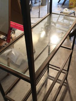 Metal Five Shelf Display With Glass Shelves for Sale in Lynnwood,  WA