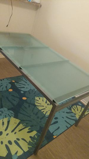 Glass dining table / desk table for Sale in San Jose, CA
