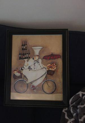 Chef on bike print for Sale in Alexandria, VA