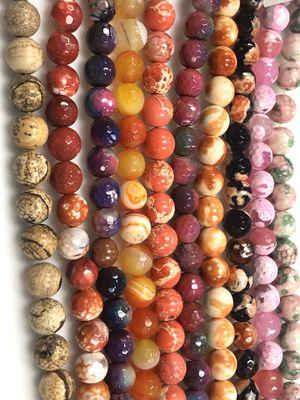 Gemstone Beads Assortment 8mm 10 Strands for Sale in Scottsdale, AZ