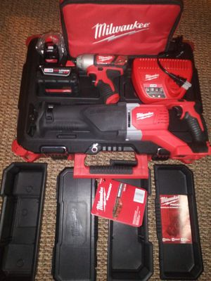 Milwaukee impact driver, Sawzall, and packout tool box for Sale in Arlington Heights, IL