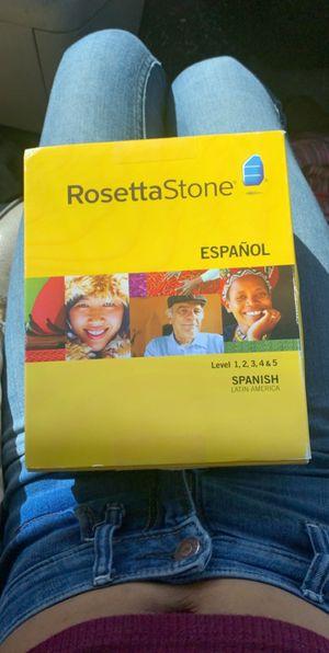 Rosetta Stone Spanish Levels 1-5 for Sale in Colorado Springs, CO