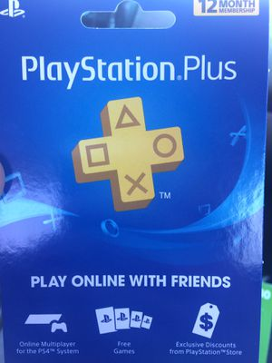 PS Plus 12 month Membership for Sale in West Valley City, UT