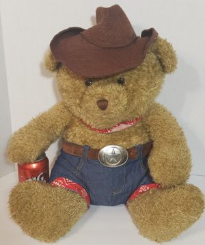 "1984 Vintage BIG 18"" Snuggle Toys Cowboy Teddy Bear Plush Stuffed for Sale in Dale, TX"