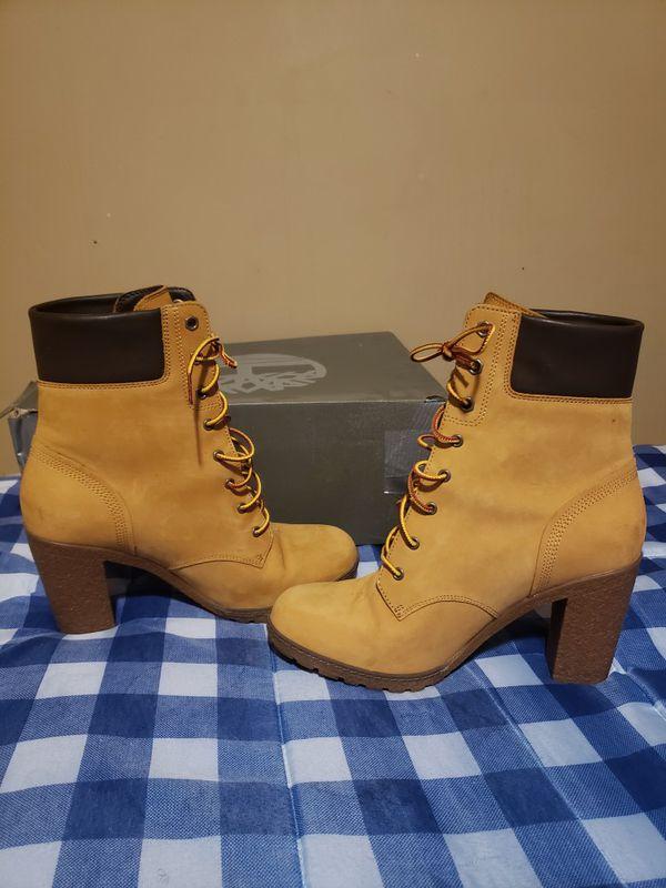 Barley worn high hill timberland boots 9.5 women