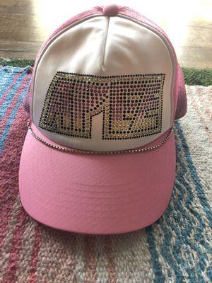 New Bape Swarovski Kiss Logo Trucker Hat Pink for Sale in Las Vegas, NV