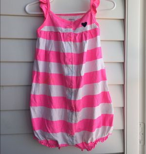 *FREE W/PURCHASE* Hot Pink & White Striped Bubble Romper. for Sale in Palmdale, CA