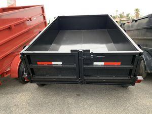 New Dump trailer 8x10x2 7000lb gvw $3750 cash for Sale in Whittier, CA