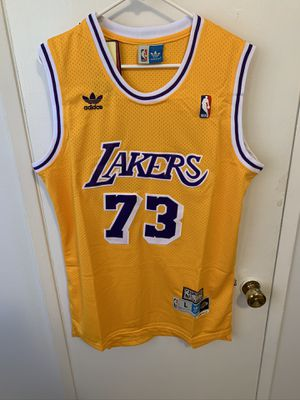 Dennis Rodman #73 yellow Los Angeles Lakers Jersey for Sale in Los Angeles, CA