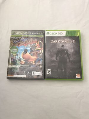 Xbox 360 Games:Banjo Kazooie Nuts Bolts & Dark Souls II Discs In Good Condition $5 Each Game for Sale in Reedley, CA