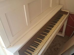 Antique white piano. Over 50 years for Sale in Austin, TX