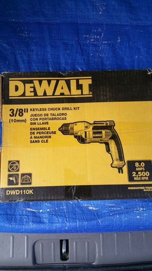 $75. DEWALT 8 Amp Corded 3/8 in. Hand Grip Drill for Sale in Evergreen, CO