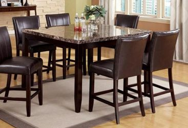 CLOSEOUTS LIQUIDATIONS SALE BRAND NEW COUNTER HEIGHT 7PC DINING TABLE SET INCLUDES TABLE AND 6 CHAIRS ALL NEW FURNITURE CM2721 for Sale in Pomona,  CA