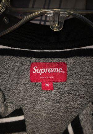 Supreme Med. Grey Stripped Polo *Rare* for Sale in San Antonio, TX
