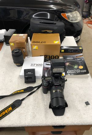 Nikon D7100 camera, with two Lenses and accessories for Sale in Poway, CA