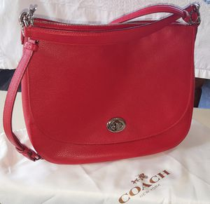 Coach authentic true red hobo purse with strap for Sale in Gig Harbor, WA