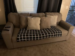 Brown couch with pillows for Sale in Fresno, CA