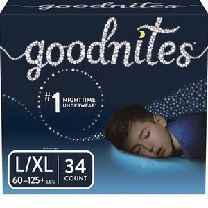 Box Of 34 Goodnites Bedwetting Underwear for Boys, Large/X-Large for Sale in Kansas City, KS