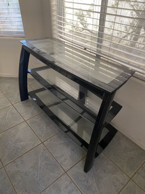 BLACK GLASS TV STAND for Sale in Chandler, AZ
