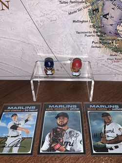 2020 Topps Heritage Miami Marlins Set Of 3 Baseball Cards for Sale in Lodi,  CA
