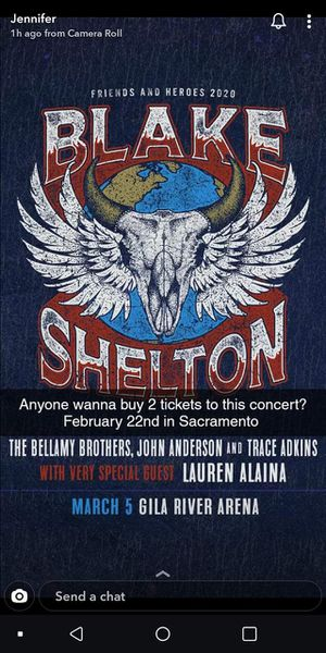 Blake Shelton tickets for Sale in Gerber, CA