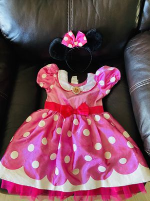 Disney Minnie Mouse Dress and ears head band for Sale in Dallas, TX