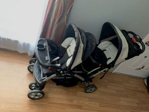 Double stroller baby trend sit and stand for Sale in Wood River, IL
